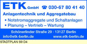 ETK GmbH Anlagentechnik und Aggregatebau