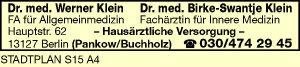 Klein, Werner, Dr. med. und Dr. med. Birke-Swantje Klein