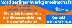 Logo von nbw Nordberliner Werkgemeinschaft gGmbH