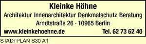 Logo von KLEINKE HÖHNE Architektur Innenarchitektur