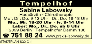 Labowsky, Sabine - Hausärztin Chirotherapie