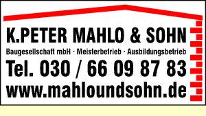 Mahlo & Sohn Baugesellschaft mbH, K. Peter