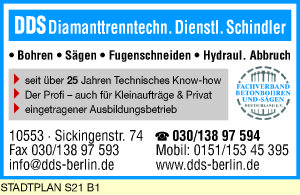 DDS Diamanttrenntechn. Dienstl. Schindler