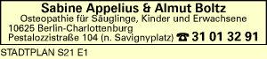 Appelius, Sabine & Almut Boltz
