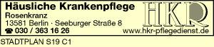 Logo von Häusliche Krankenpflege Cornelia Rosenkranz HKR