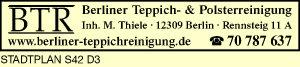 BTR Berliner Teppich- & Polsterreinigung, Inh. M. Thiele