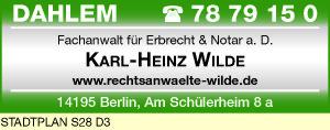 Wilde, Karl-Heinz, Notar a. D.