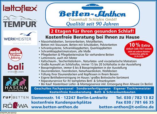Betten-Anthon Traumhaft Schlafen GmbH