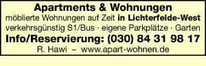 Apartments & Wohnungen, R. Hawi