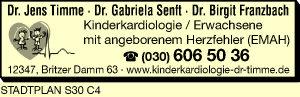 Timme, Jens, Dr., Senft, Gabriela, Dr. und Dr. Birgit Franzbach