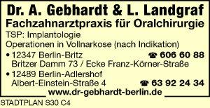 Gebhardt, A., Dr. & L. Landgraf