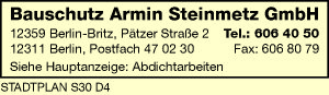 Bauschutz Armin Steinmetz GmbH