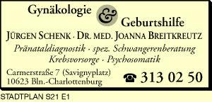 Schenk, Jürgen und <P>Dr. med. Joanna Breitkreutz