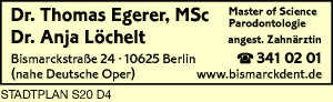 Egerer, Thomas, Dr. MSc Parodontologie und<P>Dr. Anja Löchelt