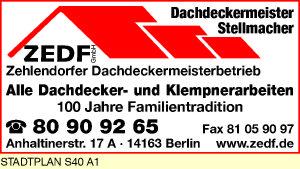 ZEDF Zehlendorfer Dachdeckermeisterbetrieb GmbH