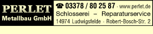 PERLET Metallbau GmbH - Schlosserei - Reparaturservice