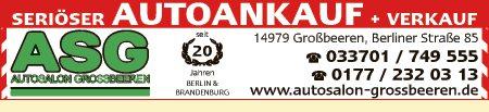 Logo von ASG Autosalon Großbeeren