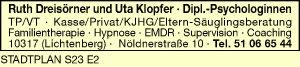 Logo von Dreisörner, Ruth und Uta Klopfer Dipl.-Pschologinnen