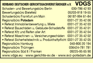 VDGS Verband Deutscher Gerichtssachverständiger e. V.