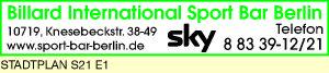 Logo von Billard International Sport Bar Berlin