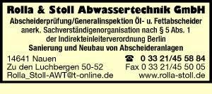 Rolla & Stoll Abwassertechnik GmbH Abscheiderprüfung Sanierung Neubau