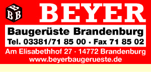 Beyer Baugerüste Brandenburg