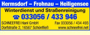 Schneefrei Hanl GmbH - Straßen- und Gebäudereinigung