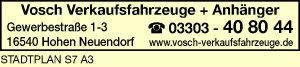 Vosch Verkaufsfahrzeuge + Anhänger