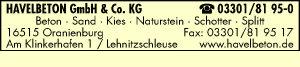 Havelbeton GmbH & Co. KG - Beton - Sand - Kies - Naturstein