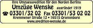 Wenske, Detlef - Umzugsspedition für den Norden Berlins