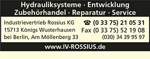 Industrievertrieb Rossius KG Hydrauliksysteme u. -zubehör