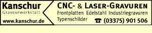 Kanschur - CNC- & Laser-Gravuren