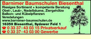 Barnimer Baumschulen Biesenthal