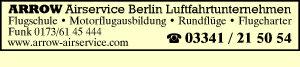 Arrow Airservice Berlin Luftfahrtunternehmen