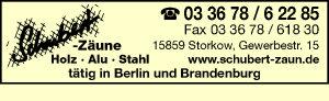 Schubert-Zäune in Holz - Alu - Stahl Berlin Brandenburg