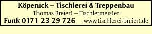 Breiert, Thomas - Tischlerei & Treppenbau