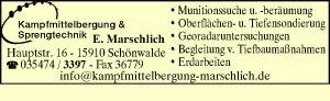 Kampfmittelbergung & Sprengtechnik Enrico Marschlich