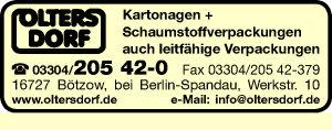 Oltersdorf GmbH - Schaumstoff- und Kartonagenverarbeitung