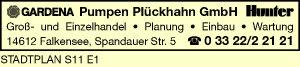 Pumpen Plückhahn GmbH - Beregnungsanlagen
