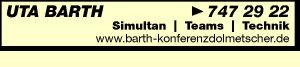 Barth, Uta - Konferenzdolmetscherin