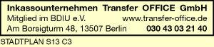 Logo von Inkassounternehmen Transfer OFFICE GmbH