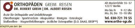 Greim, Robert, Dr. und Dr. Albert Reisen