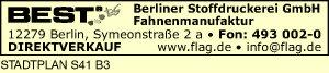BEST Berliner Stoffdruckerei GmbH - Fahnenmanufaktur