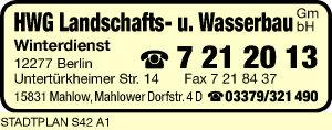 HWG Landschafts- und Wasserbau GmbH