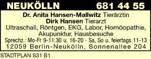 Hansen-Mallwitz, Anita, Dr. und Dirk Hansen