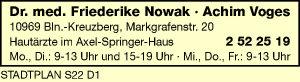 Nowak, Friederike, Dr. med. und Achim Voges