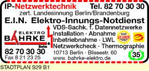 Logo von Bahrke & Sohn Elektroinstallation und -geräte GmbH