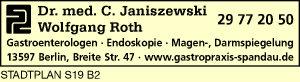 Janiszewski, Christoph, Dr. med. und Wolfgang Roth