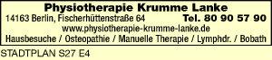 Physiotherapie Krumme Lanke