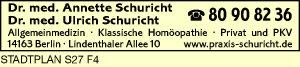 Schuricht, Ulrich, Dr. med. und<P>Dr. med. Annette Schuricht
